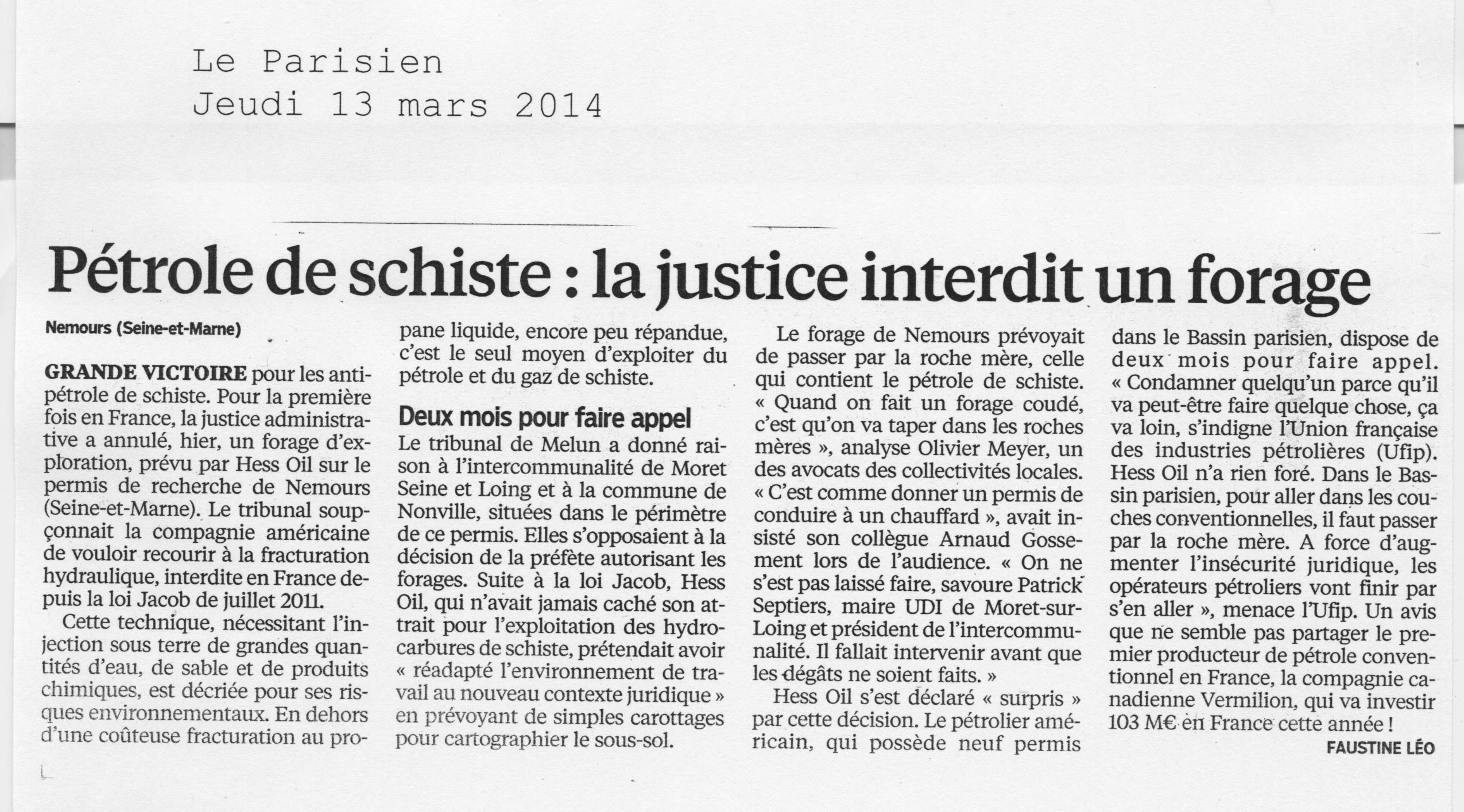 le parisien 13-03-2014